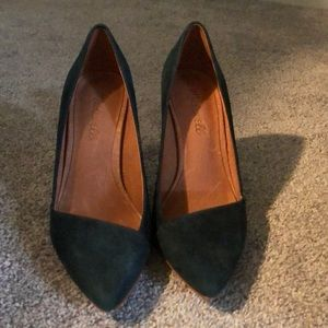 Madewell Mira Heel in Forest Green